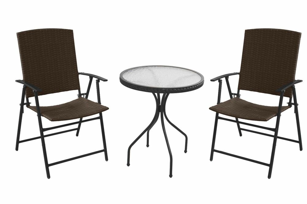 three piece resin wicker patio set ebay
