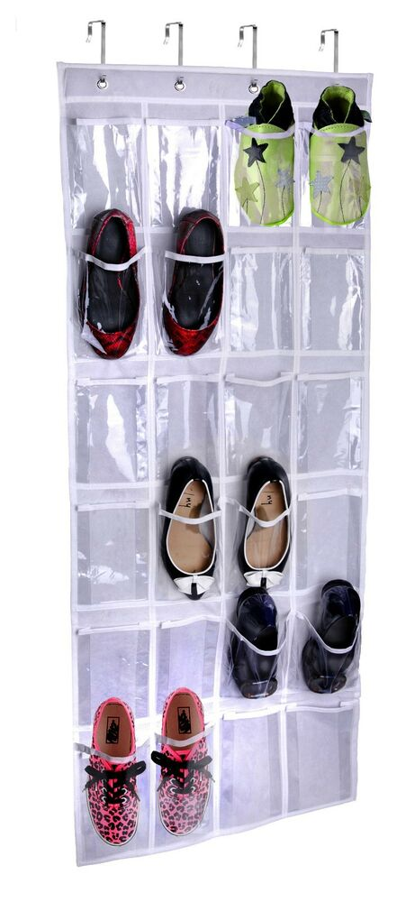 1 best quality lebogner over the door hanging shoe storage organizer ebay. Black Bedroom Furniture Sets. Home Design Ideas