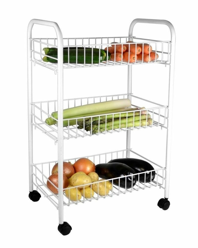 vegetable storage trolley kitchen 3 tier chrome silver kitchen fruit vegetable storage 6755