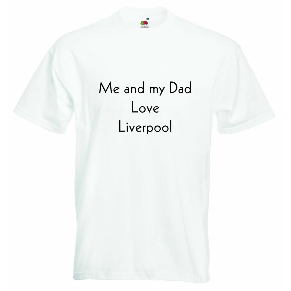 Me And My Dad Love Liverpool Personalized Baby Boys Girls