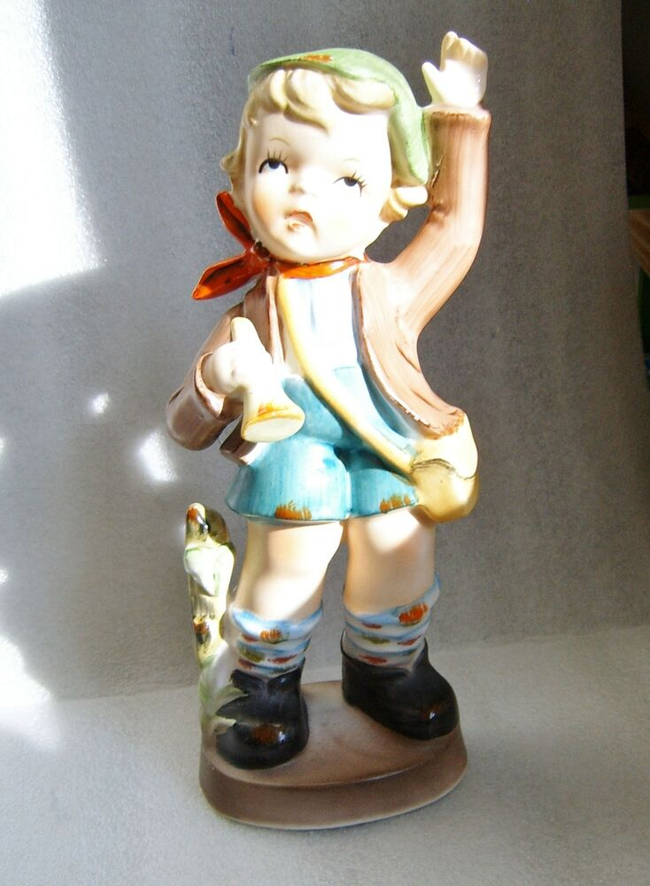 Vintage Giftcraft Fine China 8 Quot Little Boy With A Bugle