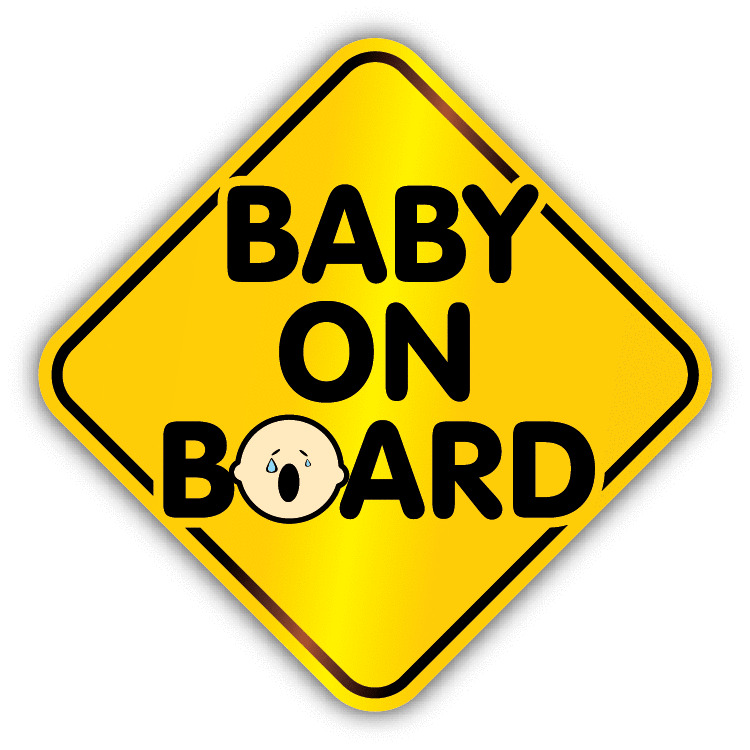 baby on board cry warning sign car bumper sticker decal 5 x 5 ebay. Black Bedroom Furniture Sets. Home Design Ideas