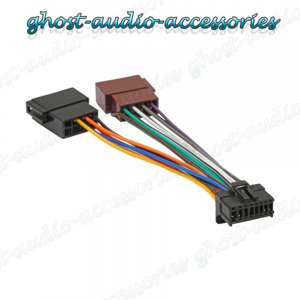 pioneer 16 pin iso wiring harness connector adaptor car. Black Bedroom Furniture Sets. Home Design Ideas