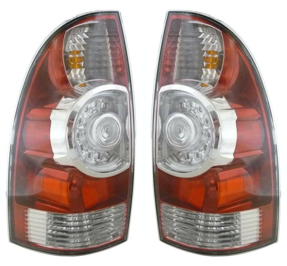 2005 2015 toyota tacoma tail light with led pair left. Black Bedroom Furniture Sets. Home Design Ideas