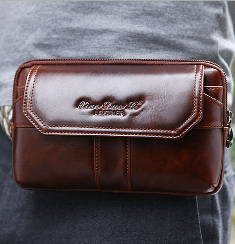 new leather cell phone belt pouch wallet pack