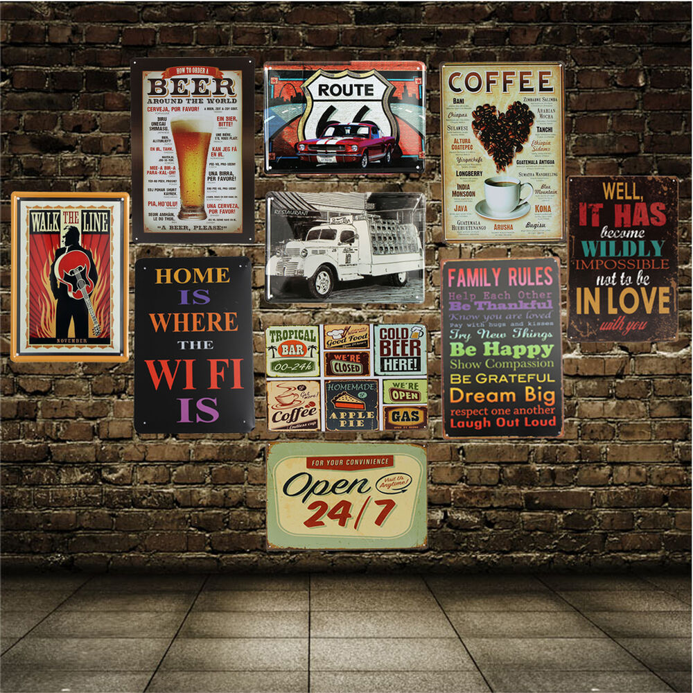 Tin Sign Wall Decor Metal Bar Plaque Pub Poster Retro Hom