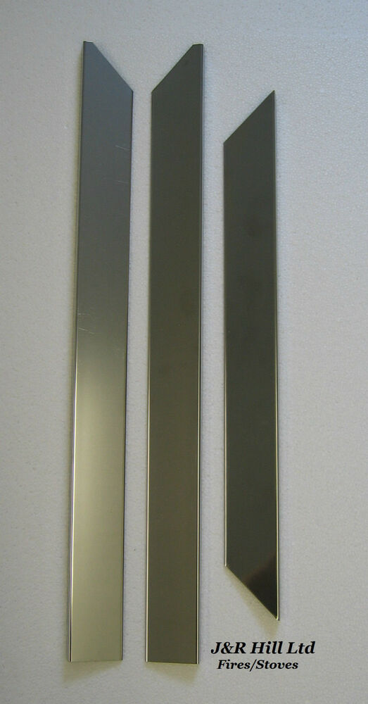 Magnetic 3 Piece Replacement Fire Trim For Gas And