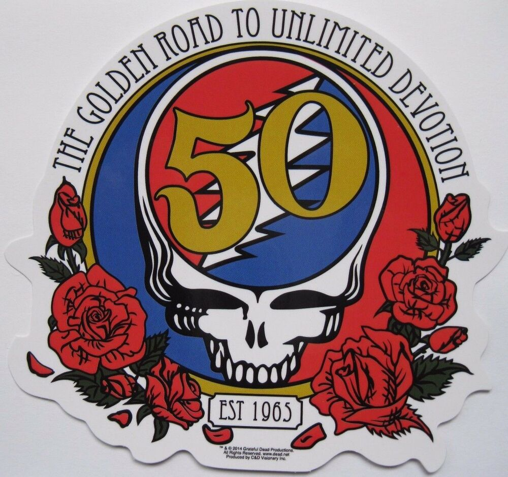 New Grateful Dead Fifty Anniversary Steal Your Face Decal