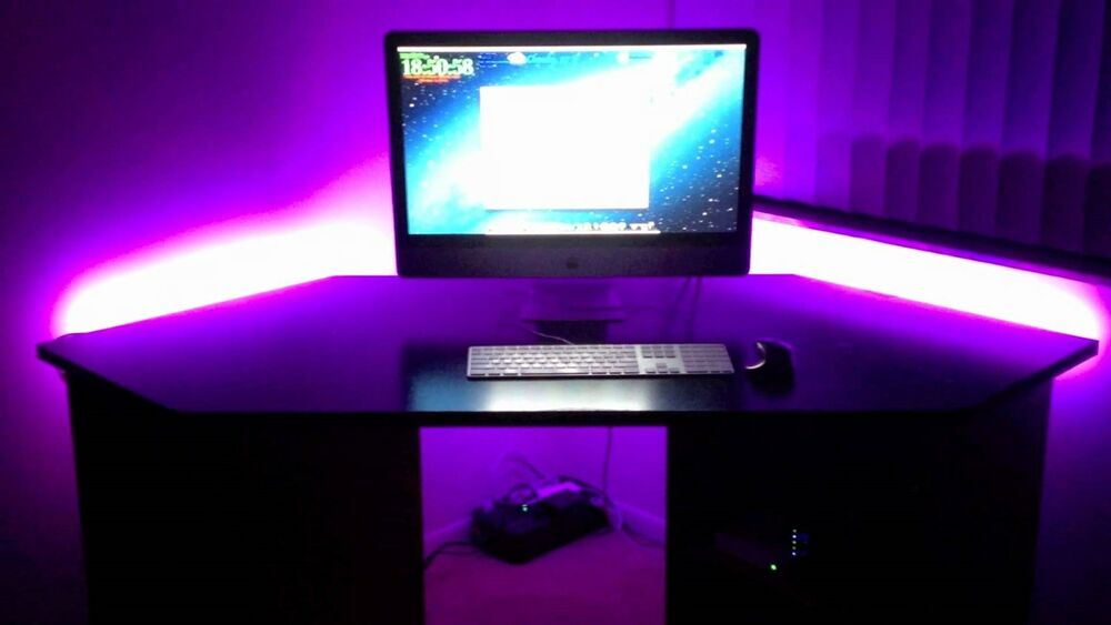 Playstation Ps3 Ps4 Gaming Desk Accent Lighting Led