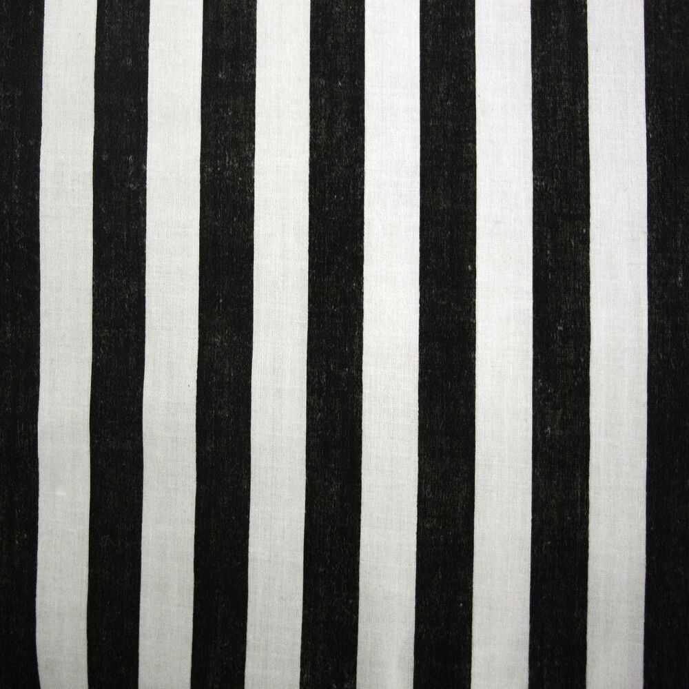 black white cotton pirate stripe fabric per metre ebay. Black Bedroom Furniture Sets. Home Design Ideas