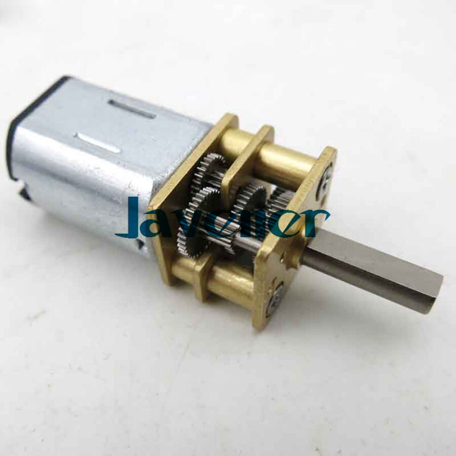 New n20 dc gear motor d style shaft 6v 60 rpm generator for Low speed dc motor 0 5 6 volt