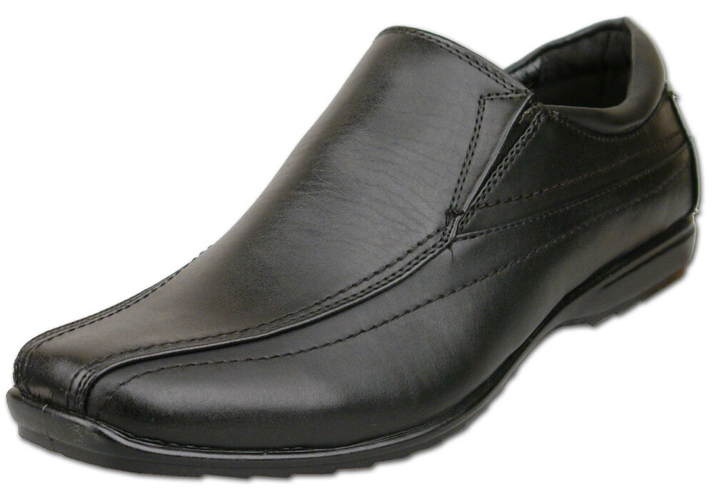 mens new black casual slip on shoes size 7 8 9 10 11 12 13
