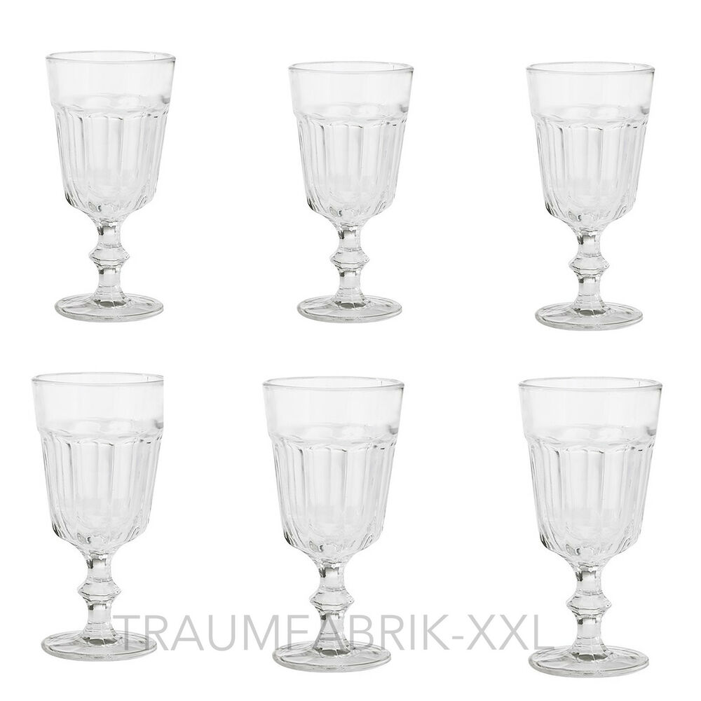 6 x weinglas weingl ser glas wasserglas dessertglas dessertgl ser set 200ml neu ebay. Black Bedroom Furniture Sets. Home Design Ideas