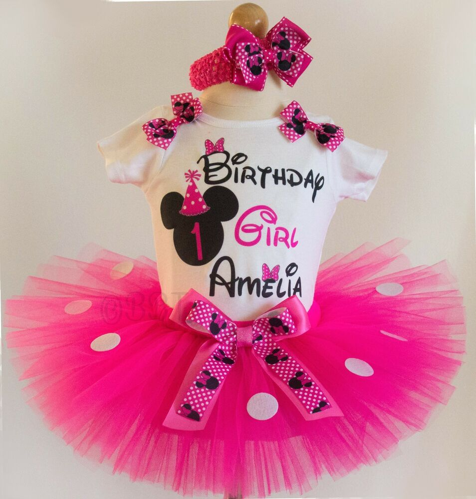 First Birthday Outfit Pink Minnie Mouse 1st Birthday Dress