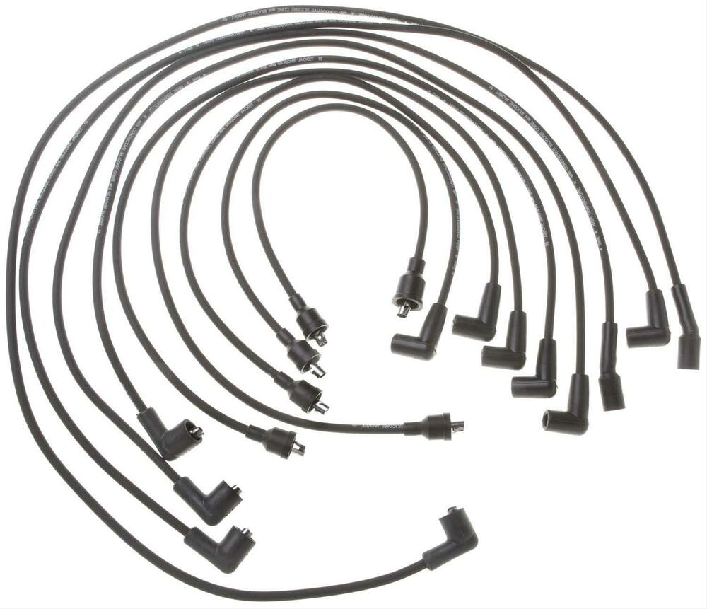 Spark Plug Wire Set Standard Mopar Big Block 383 400 440 Black Dodge