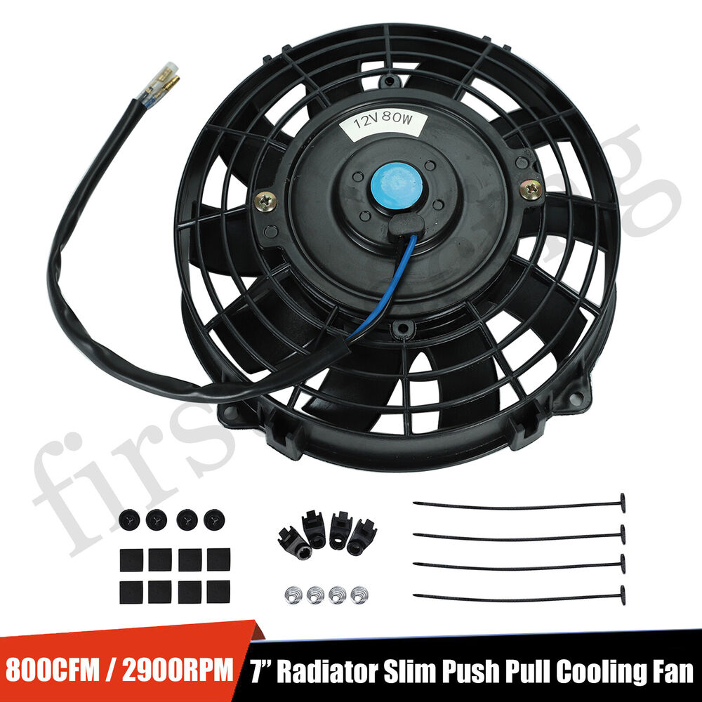 12v Cooling Fan : Quot inch universal slim fan push pull electric radiator