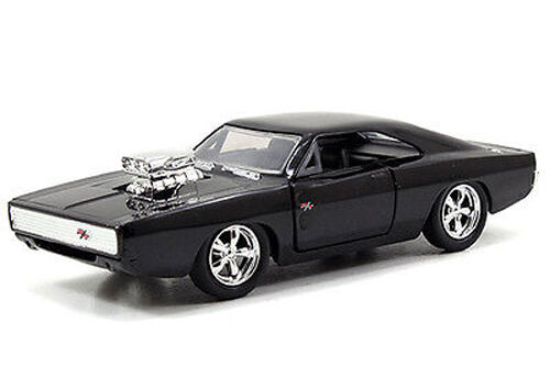 Fast And Furious 8 Cars List >> 2015 Jada FAST & FURIOUS DOM'S '70 DODGE CHARGER R/T Black 1:32 | eBay