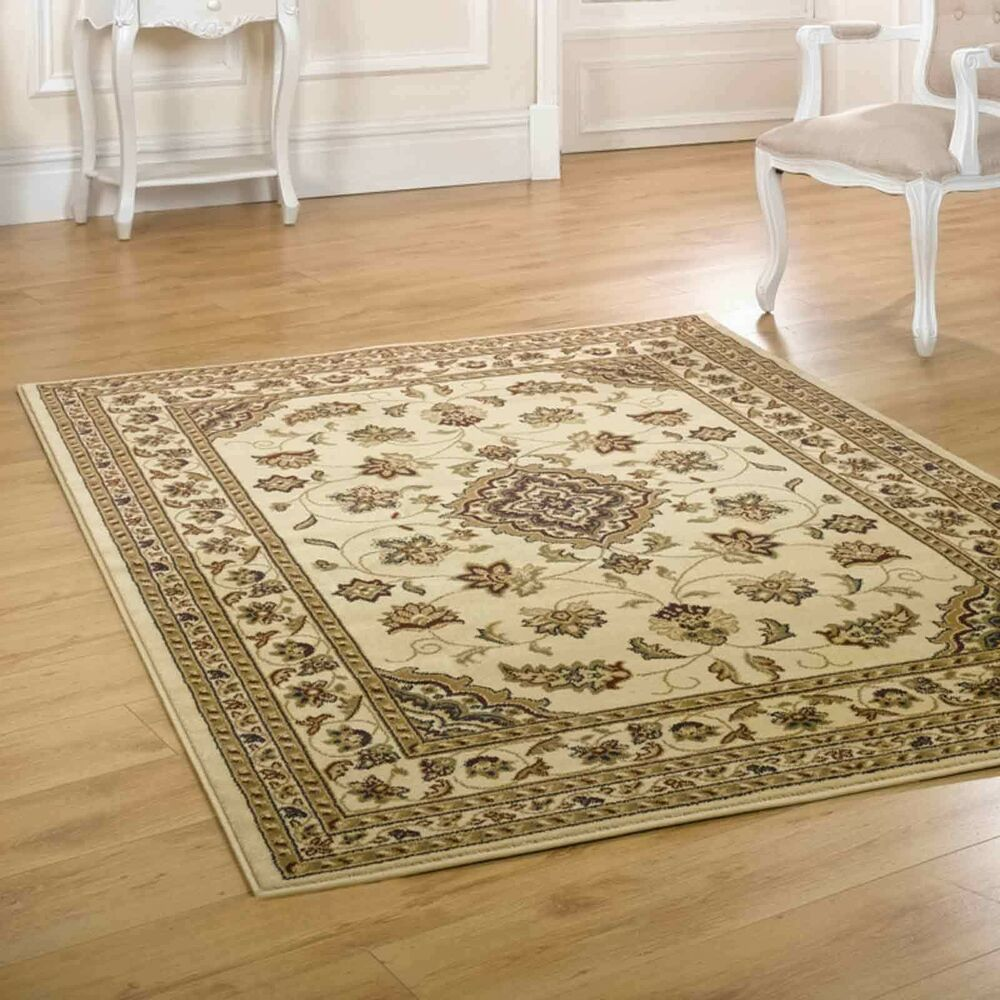 Large Small Persian Traditional Beige Carpet Rugs Runners