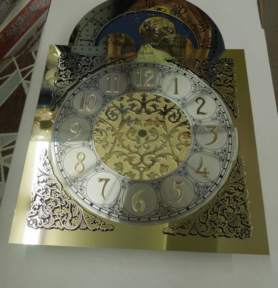 Grandfather clock dial for hermle 1151 050 chain driven triple chime