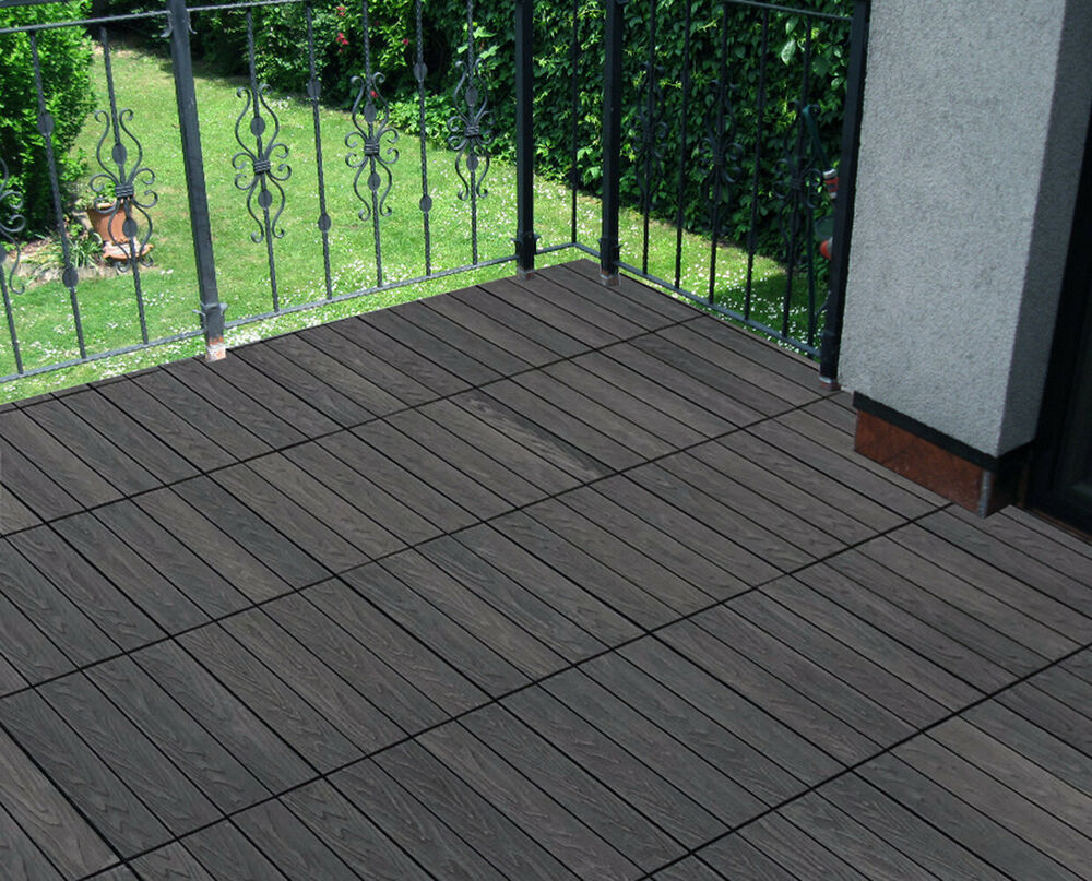 Build4eco Diy Patio Outdoor Deck Tile Composite Decking