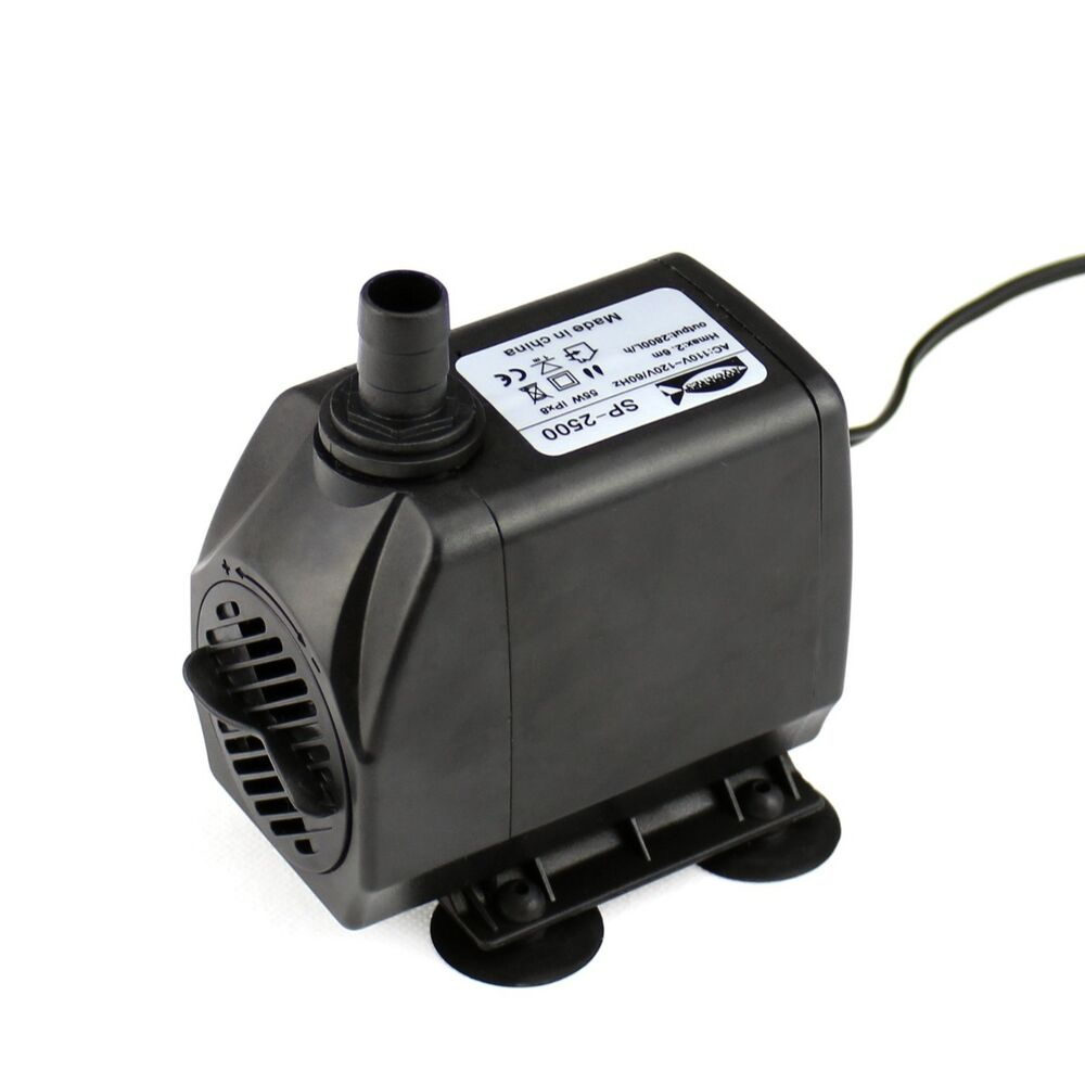 740 gph submersible pump aquarium fish tank powerhead for Fish water pump