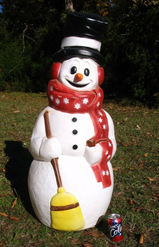 Empire large 43 tall snowman blowmold ebay for 36 countdown to christmas snowman yard decoration