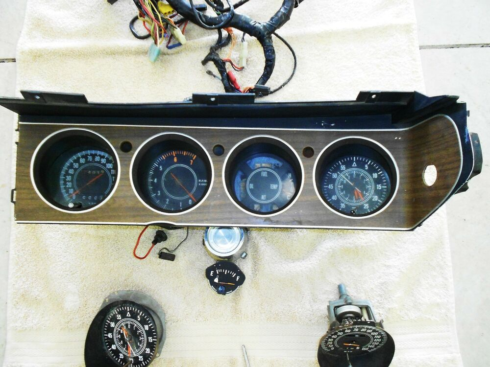 1963 Ford Thunderbird Door Panel Restoration With Chrome Trim furthermore 32024 in addition Index php further 1969 Chevy Truck Turn Signal Wiring Diagram furthermore 262025800848. on 73 cuda gauge wiring