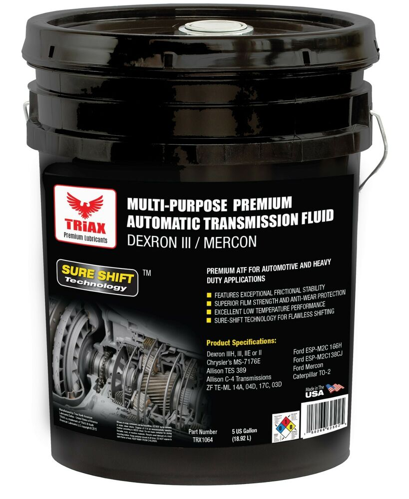 triax multipurpose atf 5 gal pail dexron iii mercon. Black Bedroom Furniture Sets. Home Design Ideas