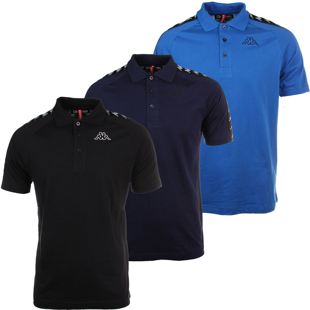 Kappa banda estrel mens short sleeve retro polo shirt ebay for Men s fashion short sleeve shirts