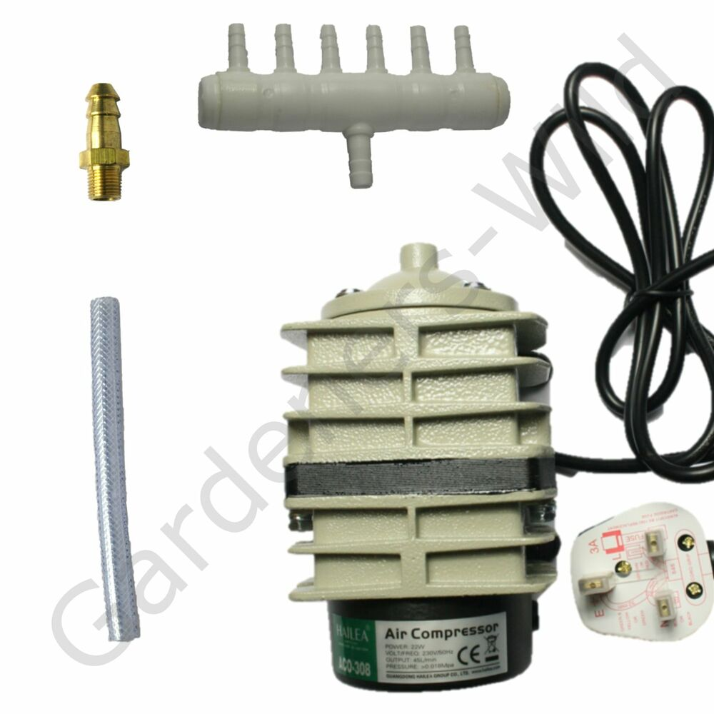 Aco308 Ac45 Hailea Air Pump 45l M Piston Compressor Hydroponic Koi Fish Pond Ebay