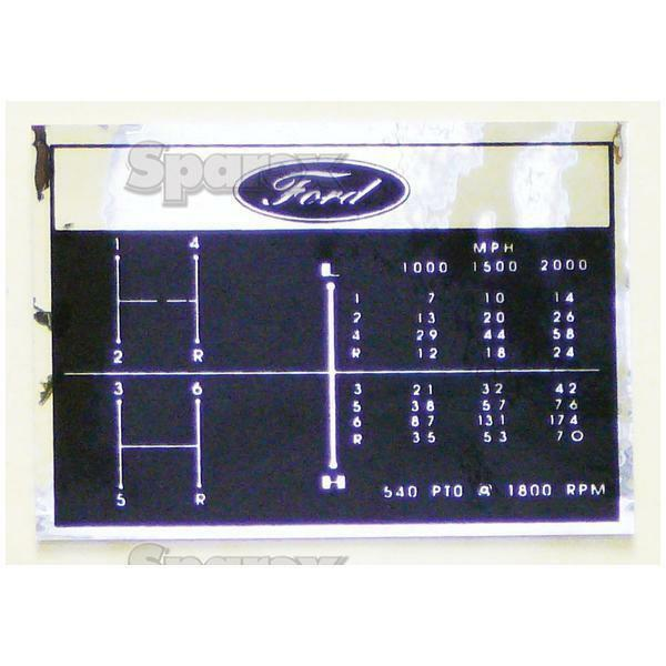 Ford 2000 Tractor Decals : Ford tractor shift pattern decal speed