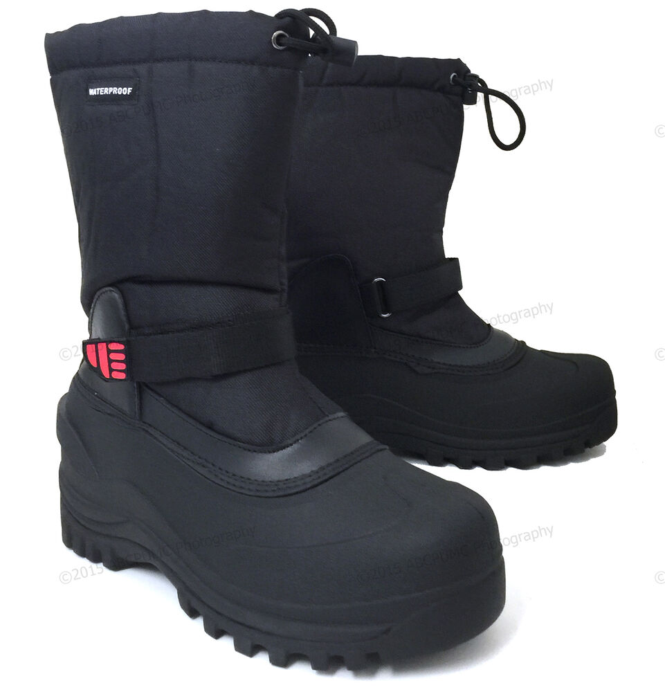 "Mens Winter Boots Nylon 10"" Insulated Waterproof"