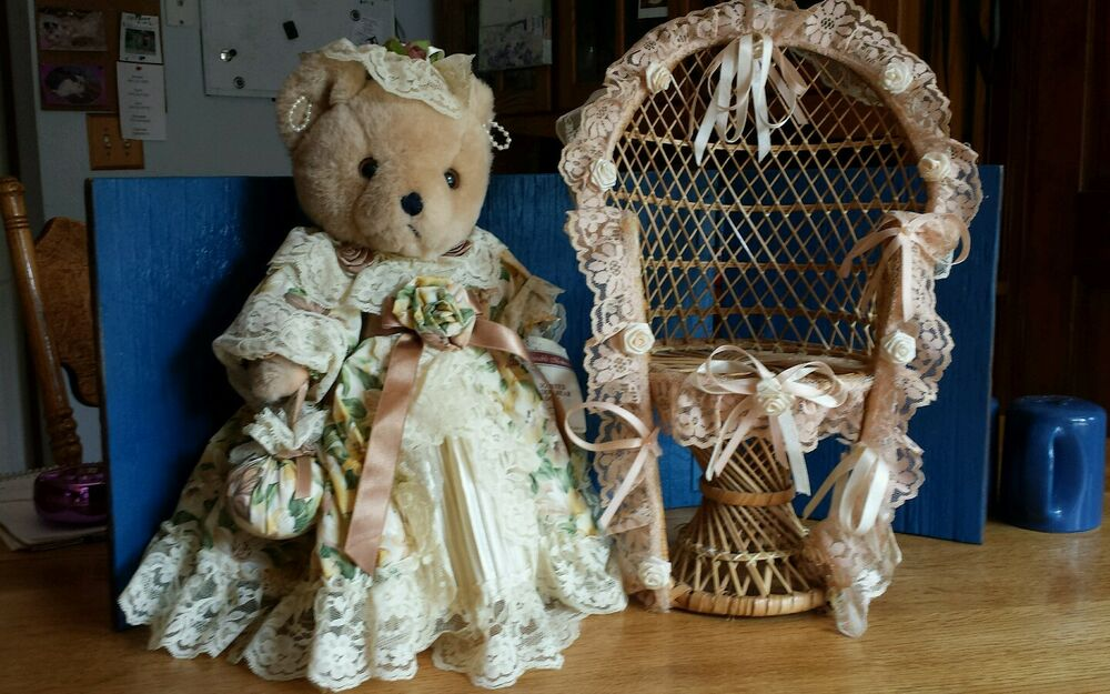 Bearable Memories Old Fashioned Jointed Teddy Bear Doll By