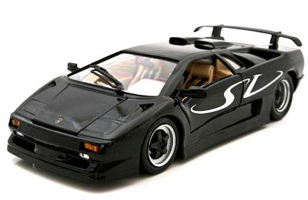 maisto lamborghini diablo sv 1 18 diecast model car black ebay. Black Bedroom Furniture Sets. Home Design Ideas