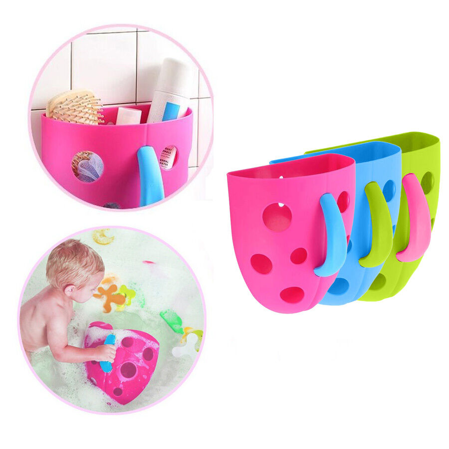 toddler baby bath toy organizer storage bin bathroom bag kid net super scoop tub ebay. Black Bedroom Furniture Sets. Home Design Ideas