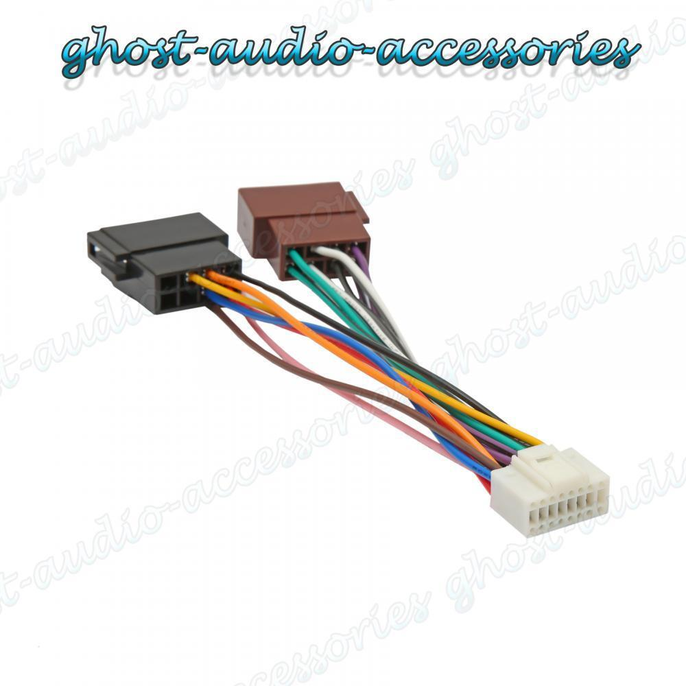 Alpine Car Radio Wiring Opinions About Diagram Audio Sub 16 Pin Iso Harness Connector Adaptor Stereo Loom Ebay Color Codes