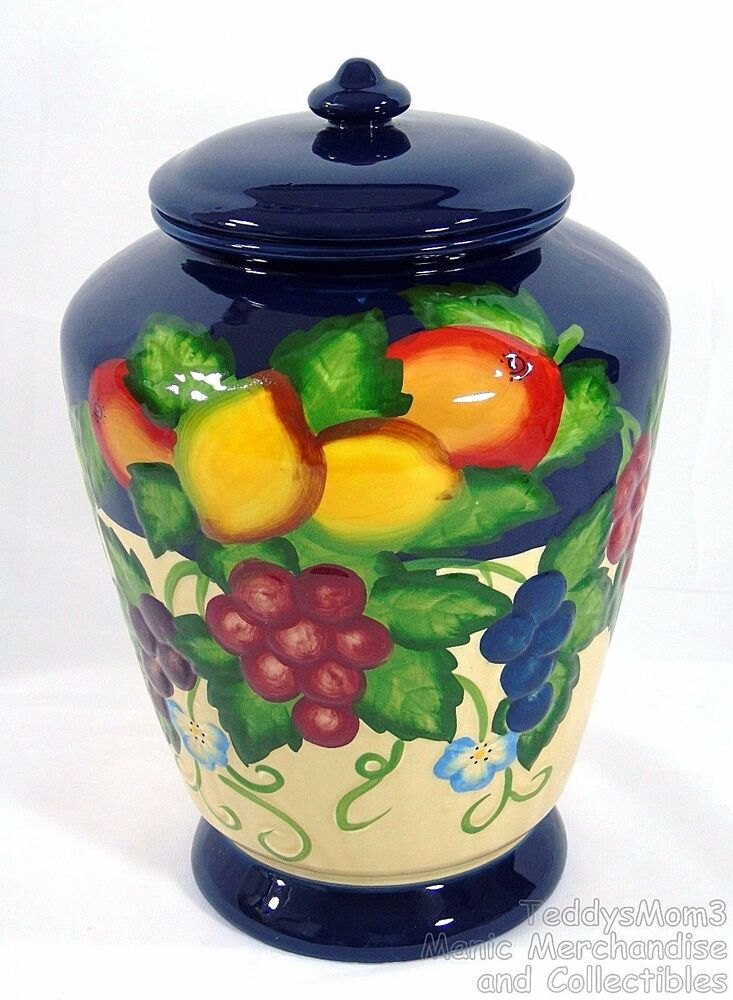 Hand Painted Fruit Canisters