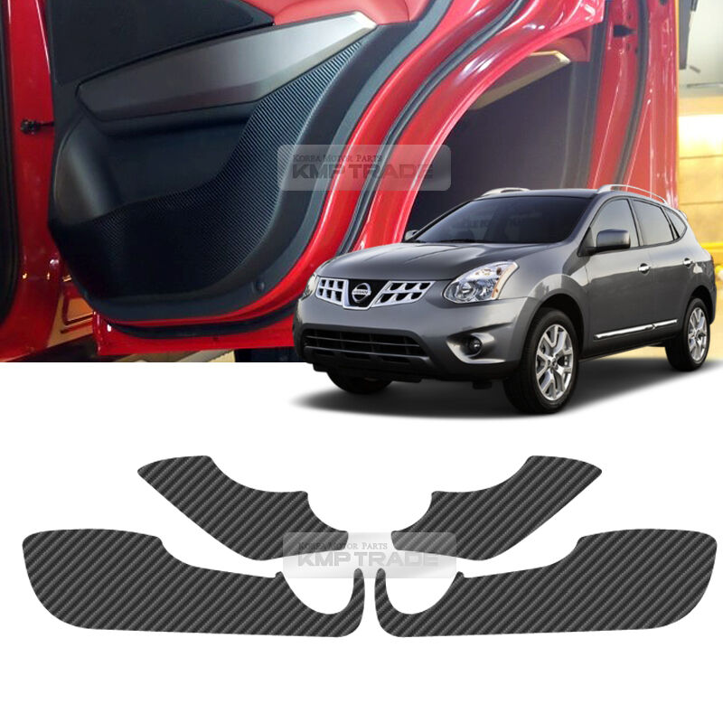 Carbon Door Decal Sticker Cover Kick Protector Molding For
