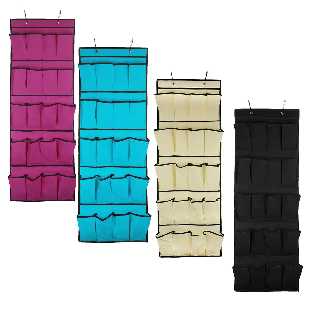20 pockets hanging over door shoe organiser storage rack for Door organizer
