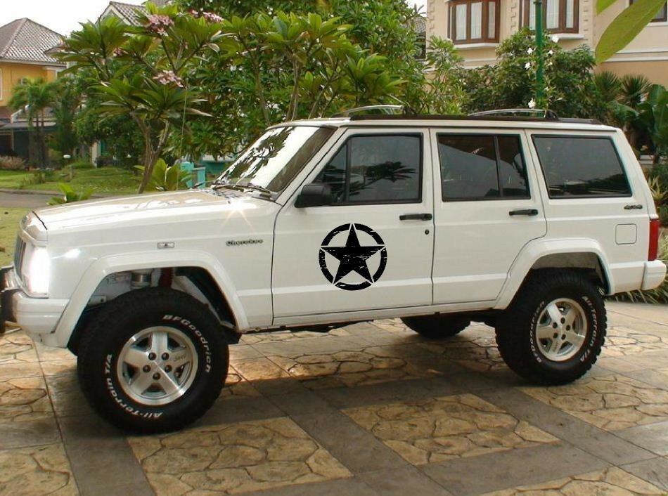 Army Decal Sticker Kit For Jeep Cherokee Rubicon Star