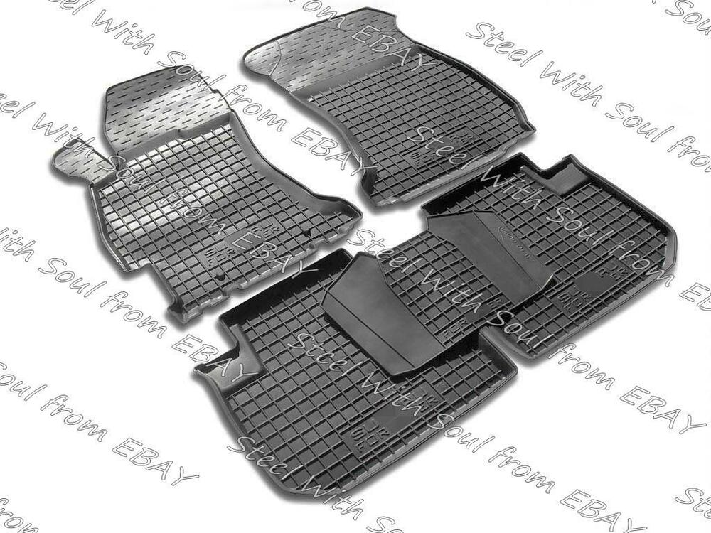 fully tailored rubber car floor mats carpet for subaru. Black Bedroom Furniture Sets. Home Design Ideas