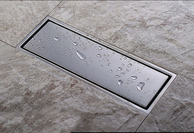 Stainless steel linear shower drains high flow quick floor