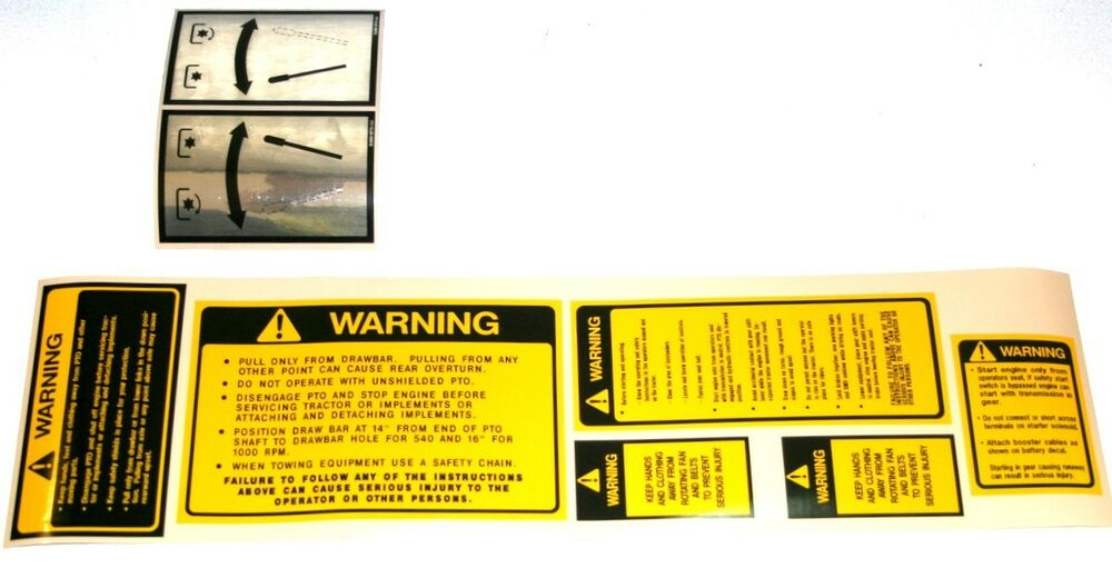 Tractor Pto Warning Decals : Ford tractor safety pto decal set