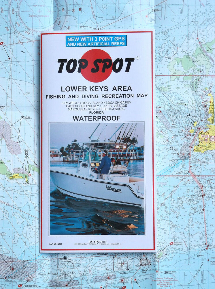 Top spot n209 lower florida keys area waterproof fishing for Best fishing spots in the keys