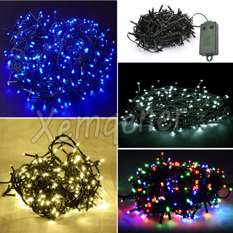 10M BATTERY OPERATED LED CHRISTMAS LAMPS FAIRY LIGHTS WITH TIMER INDOOR OUTDO
