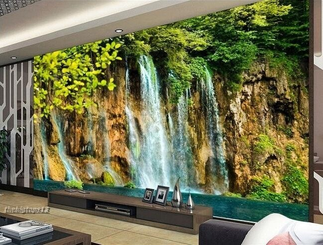 Home 3d wallpaper bedroom mural roll modern forest for Images of 3d wallpaper for bedroom