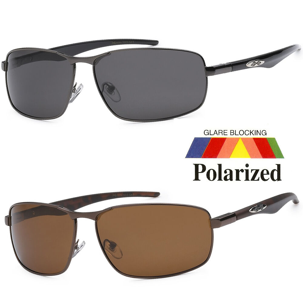 Xloop polarized sunglasses metal mens sport running for Mens fishing sunglasses