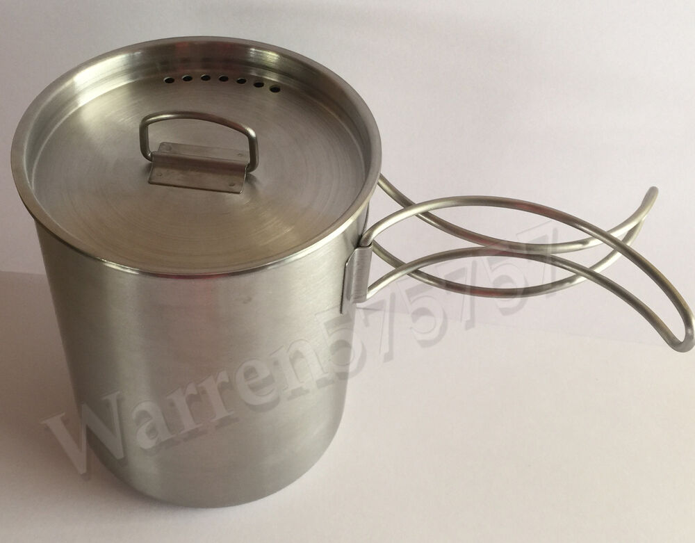 Cup With Lid : Stainless steel canteen cup with vented lid ebay
