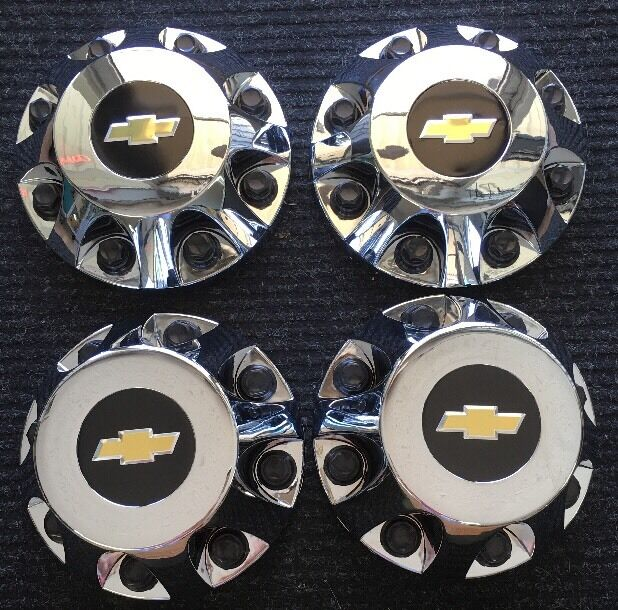 2014 chevrolet silverado 3500 dually center cap set of 4 chrome ebay