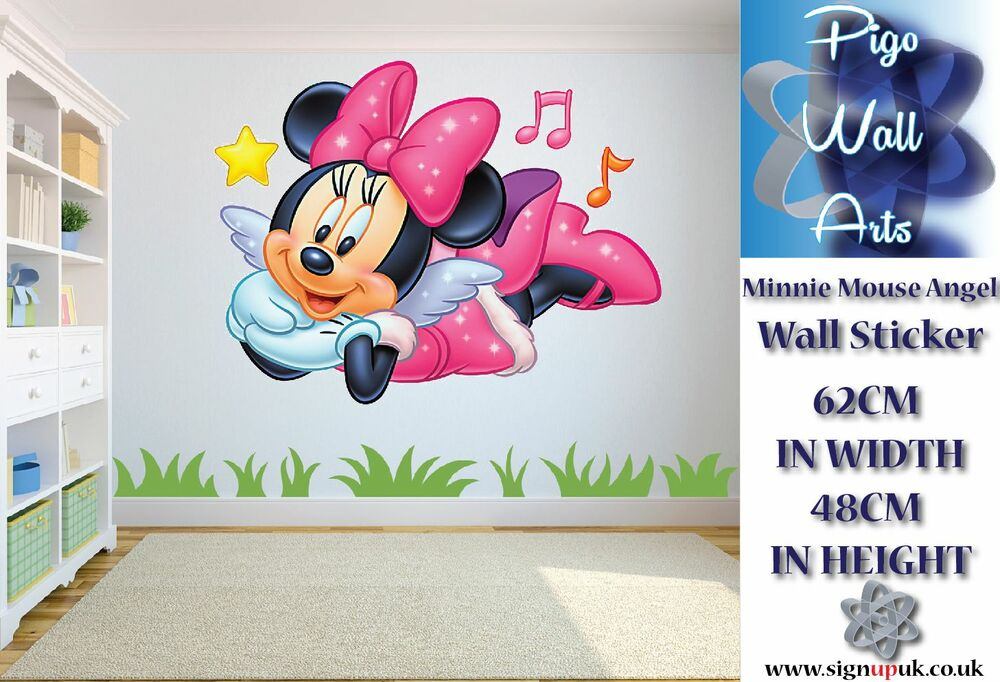 Disney Minnie Mouse Angel Wall Sticker Childrens Room Decor Large. | EBay Part 87